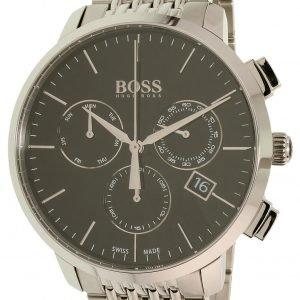 Hugo Boss Swiss Made 1513267 Kello Musta / Teräs
