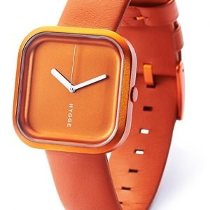Hygge Väri Sunset Orange Hge020074 Kello Oranssi / Nahka