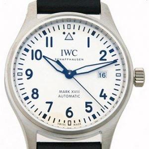 Iwc Pilots Classic Iw327002 Kello Valkoinen / Nahka