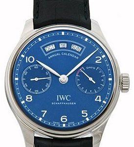 Iwc Portuguese Iw503502 Kello Sininen / Nahka