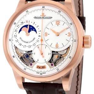 Jaeger Lecoultre Duomètre Quantième Lunaire Pink Gold 6042522 Kello