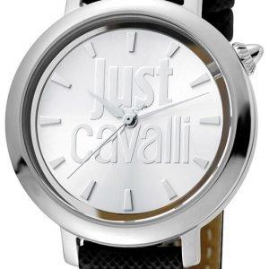 Just Cavalli Logo Jc1l007l0015 Kello Hopea / Nahka