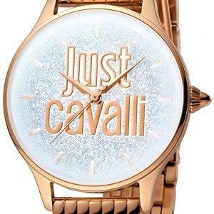 Just Cavalli Logo Jc1l043m0045 Kello Hopea / Punakultasävyinen