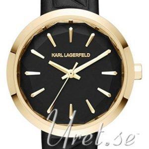 Karl Lagerfeld Belleville Kl1610 Kello Musta / Nahka