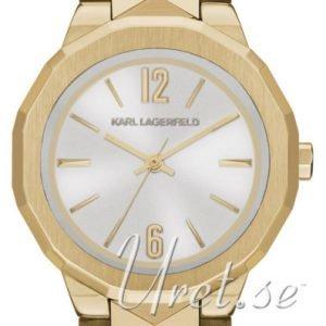 Karl Lagerfeld Joleigh Kl3403 Kello Hopea / Kullansävytetty