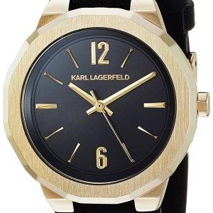 Karl Lagerfeld Joleigh Kl3410 Kello Musta / Nahka