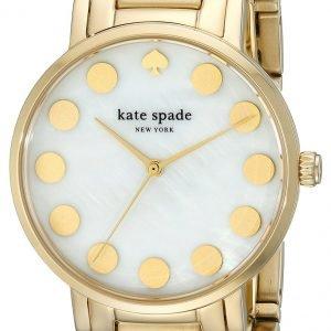 Kate Spade Gramercy 1yru0737 Kello Valkoinen / Kullansävytetty