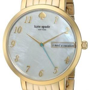 Kate Spade Ksw1106 Kello Valkoinen / Kullansävytetty
