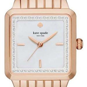 Kate Spade Ksw1132 Kello Valkoinen / Punakultasävyinen