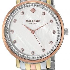 Kate Spade Ksw1143 Kello Valkoinen / Punakultasävyinen