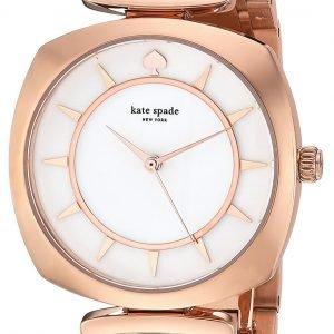 Kate Spade Ksw1229 Kello Valkoinen / Punakultasävyinen