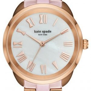 Kate Spade Ksw1262 Kello Valkoinen / Punakultasävyinen
