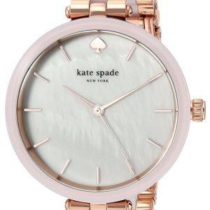 Kate Spade Ksw1263 Kello Valkoinen / Punakultasävyinen