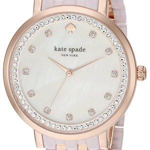 Kate Spade Ksw1264 Kello Valkoinen / Punakultasävyinen