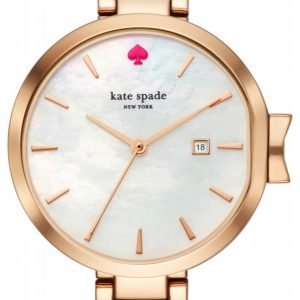 Kate Spade Ksw1323 Kello Valkoinen / Punakultasävyinen