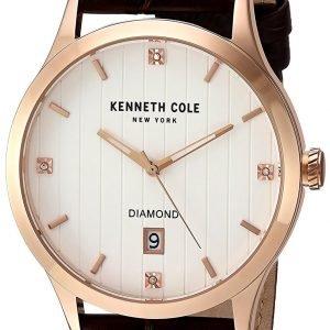 Kenneth Cole Diamond 10030783 Kello Hopea / Nahka