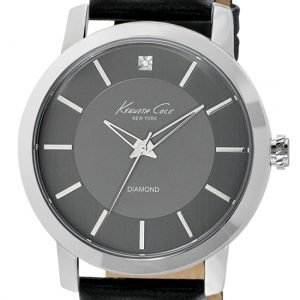 Kenneth Cole Diamond Kc1986 Kello Harmaa / Nahka
