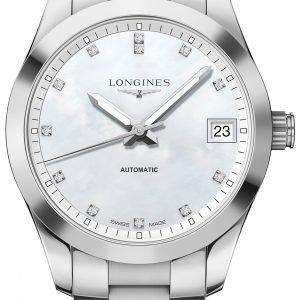 Longines Conquest L2.385.4.87.6 Kello Valkoinen / Teräs