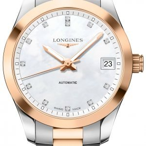 Longines Conquest L2.385.5.87.7 Kello Valkoinen / 18k