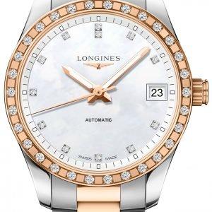 Longines Conquest L2.385.5.88.7 Kello Valkoinen / 18k