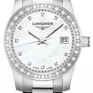Longines Conquest L3.300.0.87.6 Kello Valkoinen / Teräs