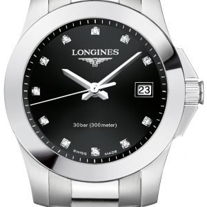 Longines Conquest L3.376.4.57.6 Kello Musta / Teräs