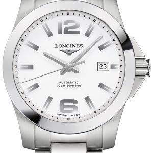 Longines Conquest L3.676.4.16.6 Kello Valkoinen / Teräs