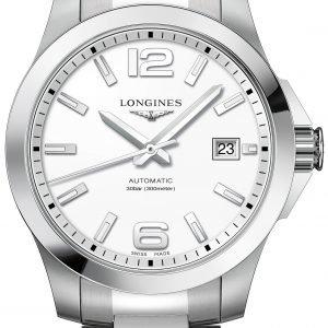 Longines Conquest L3.776.4.16.6 Kello Valkoinen / Teräs