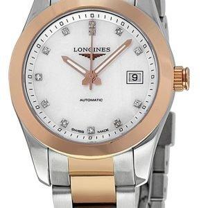 Longines Conquest Ladies L2.285.5.87.7 Kello Valkoinen / 18k