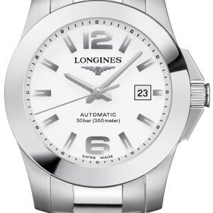 Longines Conquest Ladies L3.276.4.16.6 Kello Valkoinen / Teräs