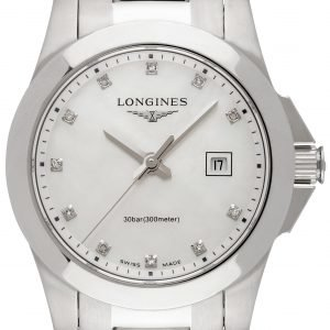 Longines Conquest Ladies L3.277.4.87.6 Kello Valkoinen / Teräs