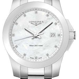 Longines Conquest Ladies L3.377.4.87.6 Kello Valkoinen / Teräs