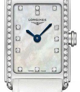 Longines Dolcevita L5.258.0.87.2 Kello Valkoinen / Nahka