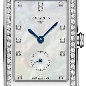 Longines Dolcevita L5.512.0.87.0 Kello Valkoinen / Nahka