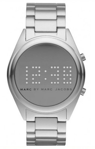 Marc By Marc Jacobs Digital Mbm3528 Kello Hopea / Alumiini