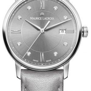 Maurice Lacroix Eliros El1094-Ss001-250-1 Kello Harmaa / Nahka