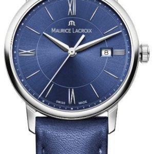 Maurice Lacroix Eliros El1094-Ss001-410-1 Kello Sininen / Nahka