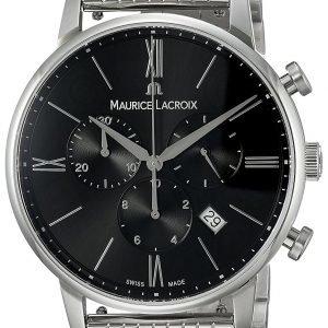 Maurice Lacroix Eliros El1098-Ss002-310-2 Kello Musta / Teräs