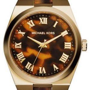 Michael Kors Channing Mk6151 Kello Ruskea / Muovi