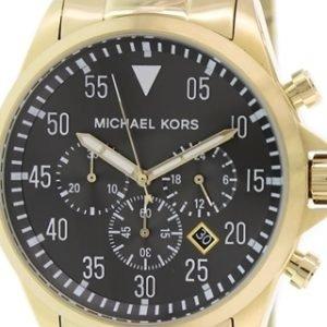 Michael Kors Gage Mk8361 Kello Musta / Kullansävytetty Teräs