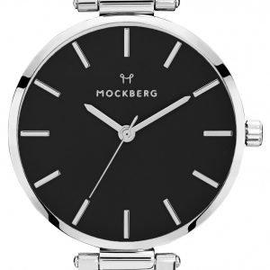Mockberg Original Mo111 Kello Musta / Nahka