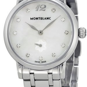 Montblanc Star 110305 Kello Valkoinen / Teräs