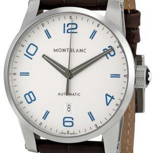 Montblanc Timewalker 110338 Kello Valkoinen / Nahka