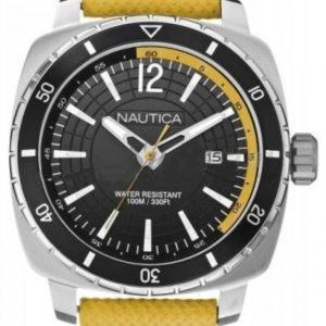 Nautica Analog A13634g Kello Musta / Nahka