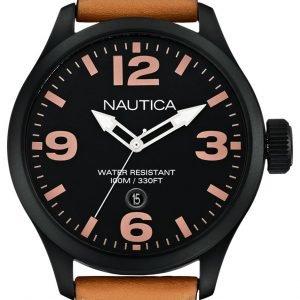 Nautica Analog A14633g Kello Musta / Nahka