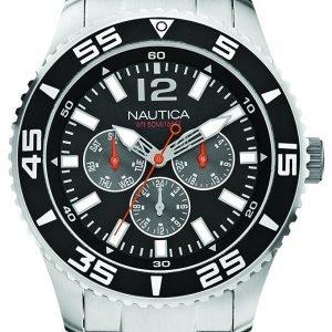 Nautica Analog A15656g Kello Musta / Teräs