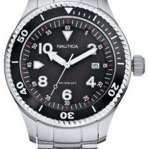 Nautica Analog A20033g Kello Musta / Teräs