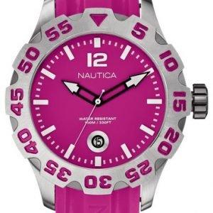 Nautica Bfd 100 A14607g Kello Pinkki / Muovi