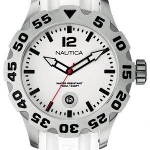 Nautica Bfd 100 A14608g Kello Valkoinen / Muovi