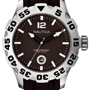 Nautica Bfd 100 A14614g Kello Ruskea / Muovi